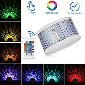 رخيصةأون مصابيح ليد مبتكرة-2pcs إضاءة الديكور / الصمام ليلة الخفيفة / أضواء العارض غني بالألوان يعمل بالريموت كنترول / تخفيت / تصميم جديد 5 V