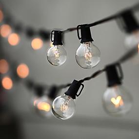 זול חוט נורות לד-7.62M חוטי תאורה 0 נוריות לבן חם חג המולד 110 V 220-240 V / IP44