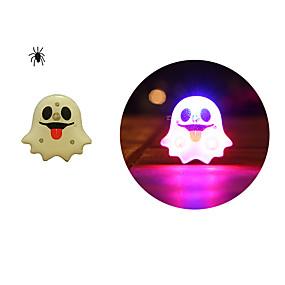 olcso Vakációs kellékek-toonykelly® led halloween szállít műanyag szellem vaku bross játék (véletlenszerű szín) (1 db)