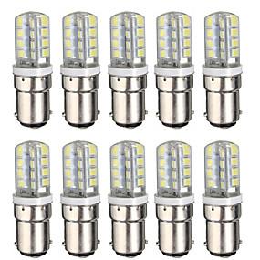 povoljno LED klipaste žarulje-10pcs 3 W LED klipaste žarulje 300 lm BA15D T 32 LED zrnca SMD 2835 New Design Toplo bijelo Bijela 220-240 V 110-120 V