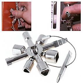 رخيصةأون مجموعات الأدوات-10 في 1 متعددة مفتاح التبديل سباك مفتاح وجع مربع الصلب الثلاثي العالمي