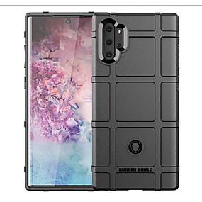 Недорогие Чехлы и кейсы для Galaxy Note 8-Кейс для Назначение SSamsung Galaxy Note 9 / Note 8 / Galaxy Note 10 Защита от удара Кейс на заднюю панель Однотонный / Геометрический рисунок ТПУ