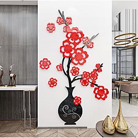 povoljno Ukrasne naljepnice-Naljepnica zidne akrilne zidne vaze za cvijeće
