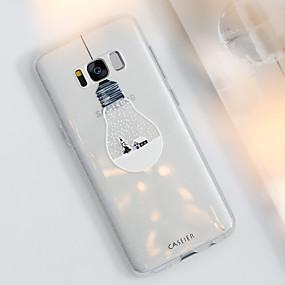 voordelige Galaxy S7 Hoesjes / covers-hoesje Voor Samsung Galaxy S8 Plus / S8 / S7 edge Stofbestendig / Ultradun / Doorzichtig Achterkant Cartoon TPU
