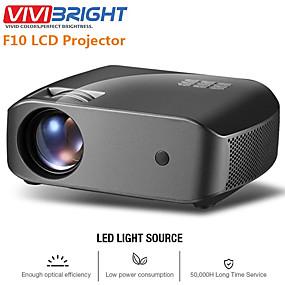 رخيصةأون أجهزة بروجيكتور-vivibright f10 / f10up mini projector 1280 * 720p، 2800 شمعة android wifi lcd led proyector دعم 1080p 3d hd فيديو متعاطي المخدرات