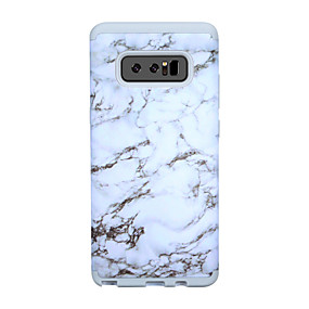 Недорогие Чехлы и кейсы для Galaxy Note 8-Кейс для Назначение SSamsung Galaxy Note 8 Защита от удара / Защита от влаги Кейс на заднюю панель Полосы / волосы / Мрамор ПК