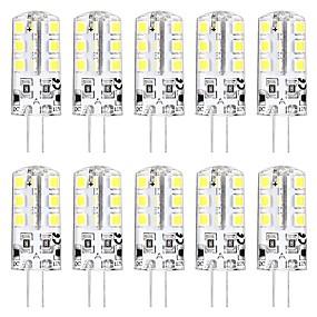 ieftine Becuri LED Bi-pin-10pcs 3 W Becuri LED Bi-pin 3000 lm G4 T 24 LED-uri de margele SMD 2835 Model nou Alb Cald Alb 12 V