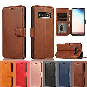 Недорогие Чехлы и кейсы для Galaxy Note 8-роскошный кожаный бумажник флип чехол для samsung galaxy s10 plus s10e s10 s9 plus s9 s8 plus s8 подставка для бумажника подставка для карты galaxy note 10 plus note 10 примечание 9 note 8 чехлы