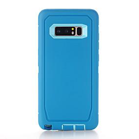 Недорогие Чехлы и кейсы для Galaxy Note 8-Кейс для Назначение SSamsung Galaxy Note 8 Защита от удара Кейс на заднюю панель Однотонный ТПУ