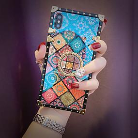 Недорогие Чехлы и кейсы для Galaxy Note 8-чехол для samsung galaxy s9 / s9 plus / s8 plus / s8 / s10 / s10 plus / s10e / note 8 / note 9 / m20 / m30 противоударный / держатель кольца / рисунок задняя крышка геометрический рисунок металл