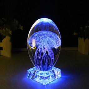 رخيصةأون مصابيح ليد مبتكرة-BRELONG® 1PC إضاءة الديكور / الصمام ليلة الخفيفة / ليلة 3D أزرق / زهري USB للأطفال / الديكور / جانب السرير 5 V
