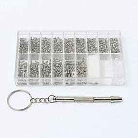 رخيصةأون مجموعات الأدوات-1000 مسامير صغيرة الجوز مفك ووتش نظارات نظارات إصلاح أداة تعيين كيت