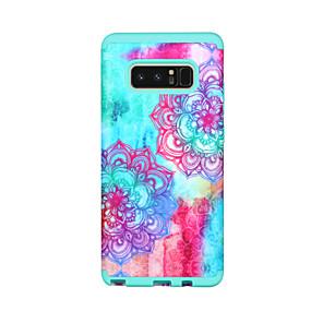 Недорогие Чехлы и кейсы для Galaxy Note 8-Кейс для Назначение SSamsung Galaxy Note 8 Защита от удара Кейс на заднюю панель Геометрический рисунок / Цветы / Градиент цвета ПК