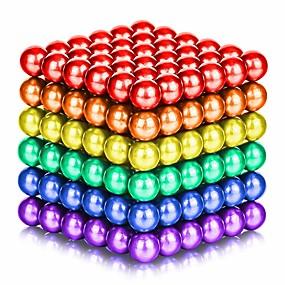 povoljno Igračke i razonoda-125-1000 pcs 5mm Magnetne igračke Magnetske kuglice Kocke za slaganje Snažni magneti Magnetska igračka Magnet Chic & Moderna Visoka kvaliteta Dječji / Odrasli Dječaci Djevojčice Igračke za kućne
