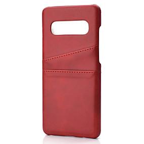 Недорогие Чехлы и кейсы для Galaxy Note 8-чехол для samsung galaxy s9 / s9 plus / s8 plus / s10plus / s10 / note10 / a8 2018 держатель карты линии задней крышки / волны искусственная кожа