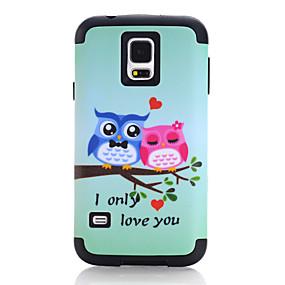 voordelige Galaxy S7 Hoesjes / covers-hoesje Voor Samsung Galaxy S7 / S6 edge / S6 Schokbestendig Achterkant dier / Cartoon TPU / PC