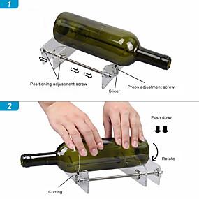 رخيصةأون مجموعات الأدوات-المهنية آلة قطع ديي زجاجة القاطع مع مفك البراغي