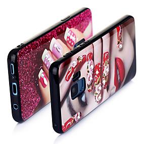 olcso Galaxy S9 Plus tokok-Case Kompatibilitás Huawei S9 / S9 Plus / S8 Ultra-vékeny / Minta Fekete tok Szexi lány TPU