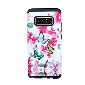 Недорогие Чехлы и кейсы для Galaxy Note 8-Кейс для Назначение SSamsung Galaxy Note 9 / Note 8 Защита от удара Кейс на заднюю панель Геометрический рисунок / Цветы / Градиент цвета ТПУ / ПК