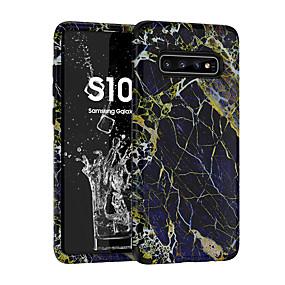 Недорогие Чехлы и кейсы для Galaxy Note 8-чехол для samsung galaxy s9 / s9 plus / примечание 9 противоударный / матовый / узор с задней крышкой мраморный пк