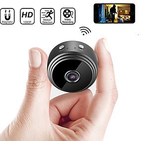 ieftine Securitate & Siguranță-Cel mai nou a9 wifi 1080p full hd noaptea viziune wireless IP camera mini camera dv wifi micro cameră mică cameră video înregistrator video în aer liber supraveghere securitate monitorizare la distan