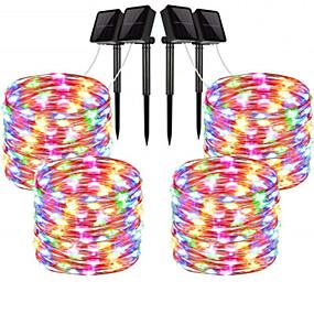 povoljno Dom i vrt-20m Žice sa svjetlima 200 LED diode 1 Postavite nosač montaže 4kom Toplo bijelo / RGB / Bijela Vodootporno / Sunce / Kreativan Napelemes / Cuttable