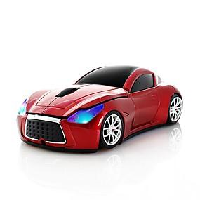 olcso Egér & Billentyűzetek-chuyi 2.4ghz hűvös sportkocsi alakú vezeték nélküli egér optikai vezeték nélküli egerek usb-vevőkészülékkel a laptop laptop számítógéphez 1600dpi 3 gomb piros