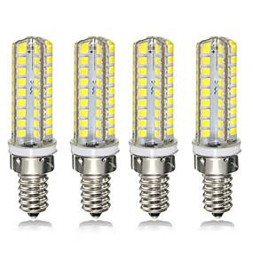 povoljno LED klipaste žarulje-4kom 7 W LED klipaste žarulje 300 lm E14 E12 72 LED zrnca SMD 2835 Zatamnjen 220-240 V 110-120 V