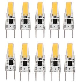 رخيصةأون مصابيح ليد ثنائية-10pcs 3 W أضواء LED Bi Pin 300 lm G8 T 1 الخرز LED COB تخفيت تصميم جديد أبيض دافئ أبيض 110-120 V