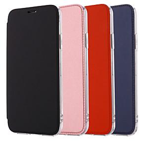 Недорогие Чехлы и кейсы для Galaxy Note 8-Кейс для Назначение SSamsung Galaxy Note 9 / Note 8 / Samsung Note 10 Зеркальная поверхность / Флип Чехол Однотонный Кожа PU