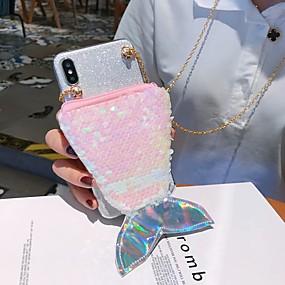 Недорогие Чехлы и кейсы для Huawei Honor-Кейс для Назначение Huawei Huawei P20 / Huawei P20 Pro / Huawei P20 lite Кошелек / Бумажник для карт / Защита от удара Кейс на заднюю панель Сияние и блеск ТПУ