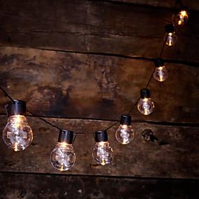 povoljno LED svjetla u traci-vodio vanjski svjetlo string s 20 prozirnih LED žarulje za dvorište paluba balkon interijera svjetlo bistro party dekoracija topla bijela baterija kutija \ t