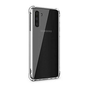 Недорогие Чехлы и кейсы для Galaxy Note 8-Кейс для Назначение SSamsung Galaxy Note 9 / Note 8 / Galaxy Note 10 Прозрачный Кейс на заднюю панель Однотонный ТПУ