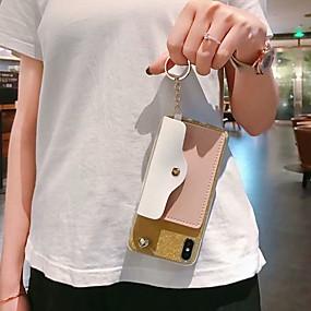 Недорогие Чехлы и кейсы для Galaxy Note 8-Кейс для Назначение SSamsung Galaxy S9 / S9 Plus / S8 Plus Кошелек / Бумажник для карт / Защита от удара Кейс на заднюю панель С сердцем / Сияние и блеск ТПУ