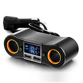 Недорогие Автомобильные зарядные устройства-Автомобиль Прикуриватель 2 USB порта для 24 V