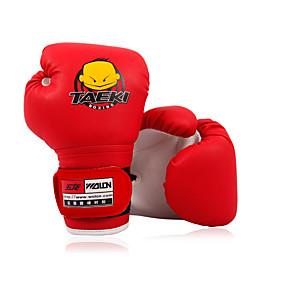 olcso Doboz-Bokszkesztyűk mert Boksz képzés UFC Ökölvívás Tartós Extra hosszú pánt Légáteresztő Csuklóvédő Nedvességelvezető PU bőr Gyerekek Uniszex - Tengerészkék Piros