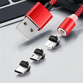 halpa Oneplus-Mikro USB / Valaistus / C-tyypin Kaapeli 1,0 (3ft) Punottu Nylon USB-kaapelisovitin Käyttötarkoitus Samsung / Huawei / Xiaomi