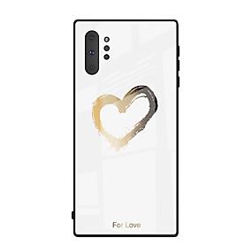 Недорогие Чехлы и кейсы для Galaxy Note 8-витраж из закаленного стекла для samsung galaxy note 10 плюс примечание 10 милое любовное сердце мягкий силиконовый чехол для бампера tpu для galaxy note 9 примечание 8