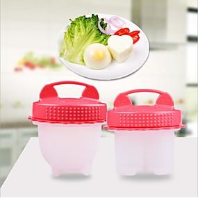 povoljno Kuhijnski alati-4pcs set silikonskog jajeta hvataljka za kuhanje jaja aparat za kuhanje prijenosni kuhano jaje na pari kuhinjski alat doručak