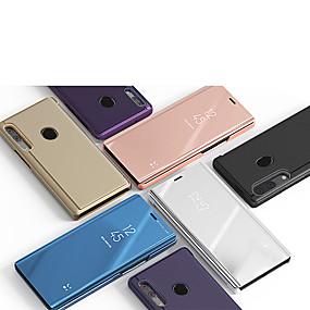 voordelige Galaxy J5(2017) Hoesjes / covers-hoesje Voor Samsung Galaxy A3 (2017) / A5 (2017) / A7 (2017) met standaard / Spiegel Volledig hoesje Effen PU-nahka / PC