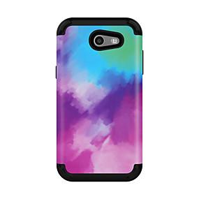 voordelige Galaxy J3 Hoesjes / covers-hoesje Voor Samsung Galaxy J3 / Galaxy J3 Prime / Galaxy J3 Pro (2017) Schokbestendig Achterkant Kleurgradatie PC