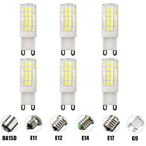 povoljno LED klipaste žarulje-6kom 7 W LED klipaste žarulje LED svjetla s dvije iglice 700 lm E14 G9 E12 T 64 LED zrnca SMD 2835 Zatamnjen New Design Toplo bijelo Bijela 220-240 V 110-120 V