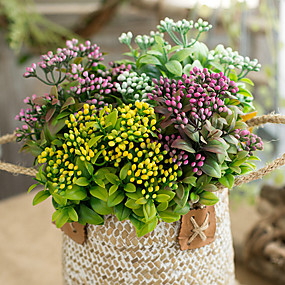 levne Umělé květiny-Umělé květiny 1 Větev Klasické rustikální design Svatební kytice Věčné květy Květina na stůl