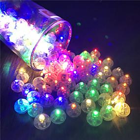cheap Holiday & Party Decorations-12Pcs Switch Balloon LED Flash Luminous Lamps Tumbler Light Bar Lantern Christmas Wedding Party Decorations Birthday Decor
