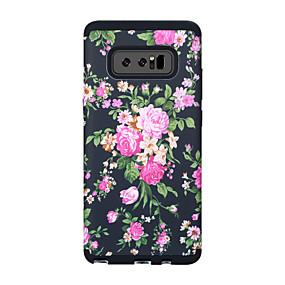 Недорогие Чехлы и кейсы для Galaxy Note 8-Кейс для Назначение SSamsung Galaxy Note 8 Защита от удара / Защита от влаги Кейс на заднюю панель Пейзаж / Цветы ПК
