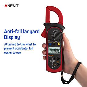 cheap Tool Sets-ANENG ST201 Digital Clamp Multimeter Ammeter Transistor Tester Voltage Tester Red Color