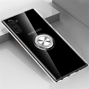 voordelige Galaxy Note 8 Hoesjes / covers-hoesje Voor Samsung Galaxy Note 9 / Note 8 / Galaxy Note 10 Ringhouder Achterkant Transparant TPU / Metaal