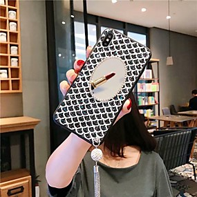 voordelige Galaxy S7 Edge Hoesjes / covers-hoesje Voor Samsung Galaxy S9 / S9 Plus / S8 Plus Schokbestendig / Strass / Spiegel Achterkant Glitterglans Acryl