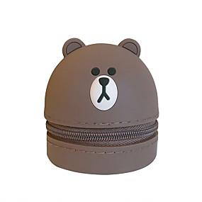 olcso Tokok-kézi érme pénztárca hordozható fejhallgató táska tároló táska aranyos rajzfilm szilikon 1 elem