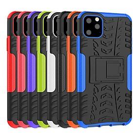 voordelige iPhone 11 Pro Max hoesjes-hoesje voor Apple iPhone 11 / iPhone 11 pro / iPhone 11 pro max schokbestendig / met standaard achterkant armor TPU / pc hoesje